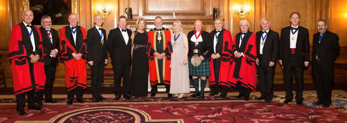 The Master. Mistress And Wardens, Together With Their Principal Guests At The 2017 Installation Dinner