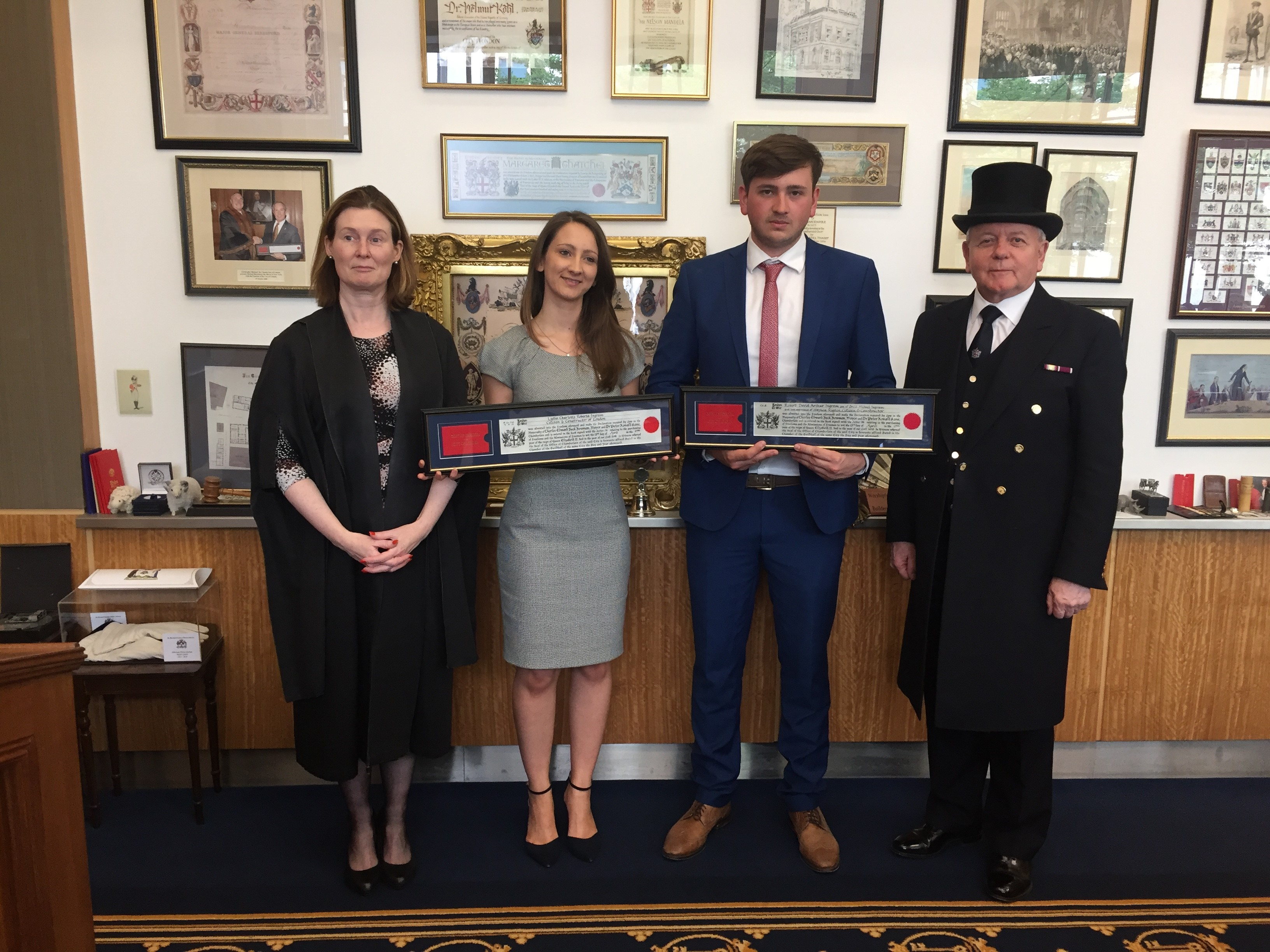 Members Awarded Freedom Of The City
