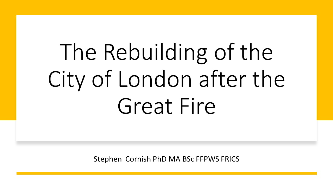 The Rebuilding Of The City Of London